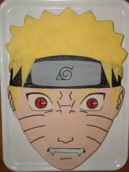 Naruto-Kyuubi's eyes cake by Valkyrie-21