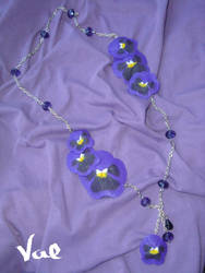 Pansy necklace by Valkyrie-21