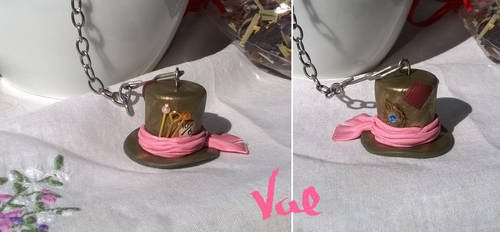 Mad Hatter tea strainer by Valkyrie-21