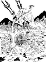 - Space Awesome 02 - LINEART by FelipeChoque