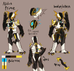 Revised Nidus Prime ref {Fan Concept} by Ashlynnii