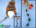 Multicolor pom winter knit hat by Louness26