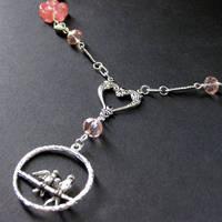 Lovebirds Necklace in Silver by Gilliauna