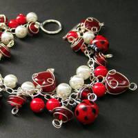 Lovely Ladybugs Charm Bracelet by Gilliauna