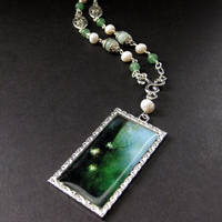 Firefly's Dance Jade Necklace by Gilliauna