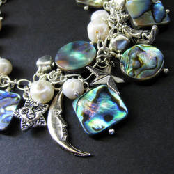 Aurora Borealis Charm Bracelet by Gilliauna