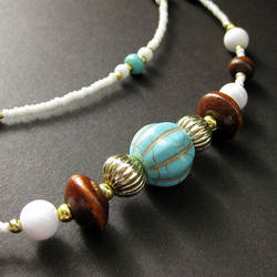 Turquoise Beauty Eyewear Chain by Gilliauna