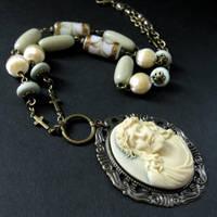 Jesus Cameo Necklace by Gilliauna