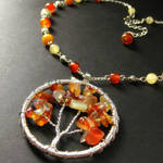 Autumn Leaves Agate Necklace by Gilliauna