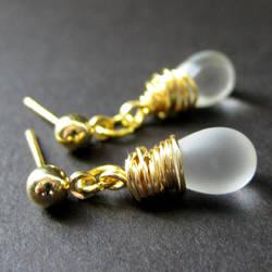 Frost in Fall Elixir Earrings by Gilliauna