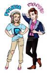 Genderbent!Pewdiepie and Cutiepiemariza by MariaMediaHere