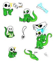 Snek Sans Doodles by Pinkapop