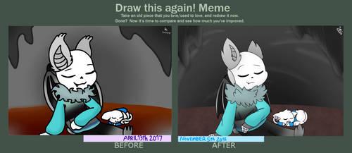 Draw This Again Meme - Bat n Cat by Pinkapop