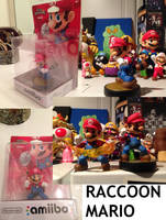 Custom Raccoon Mario amiibo by Derrico13