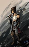 Samurai au 1 Korra by Blackangel94a