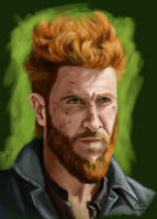 Mad Sweeney - American Gods by martianpictures