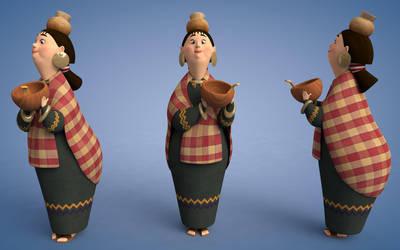 kingdom of sun character model by sameh-koko2