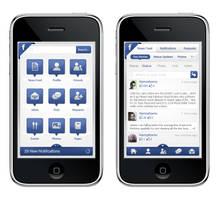 Facebook iPhone's application by hamzahamo