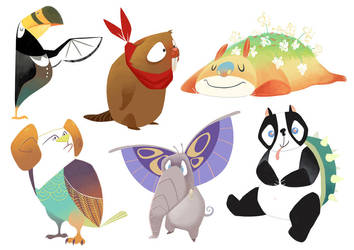 Creature mix designs by S-P-N