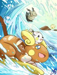 Pokemon Sun and Moon - Alolan Raichu by miyuu490