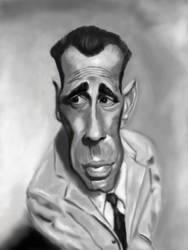 Humphrey Bogart Caricature by DoodleArtStudios