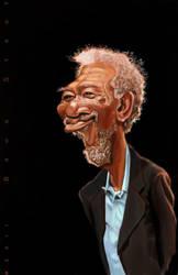 Morgan Freeman by DoodleArtStudios