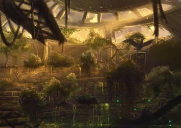 Forgotten Greenhouse by Kamikaye