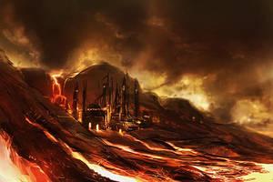 Fieryfortresssea by Kamikaye