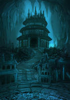 Ancient temple by Kamikaye