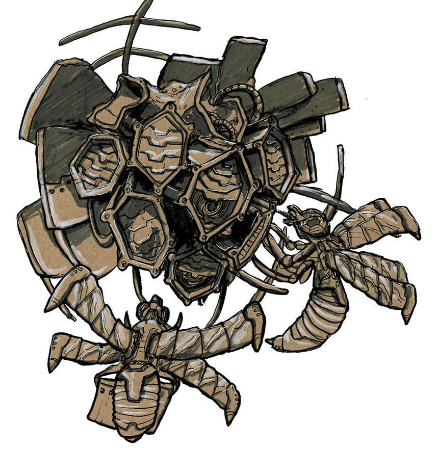 Mechatronic Wasp Hive Wip 2 Prs by Kamikaye