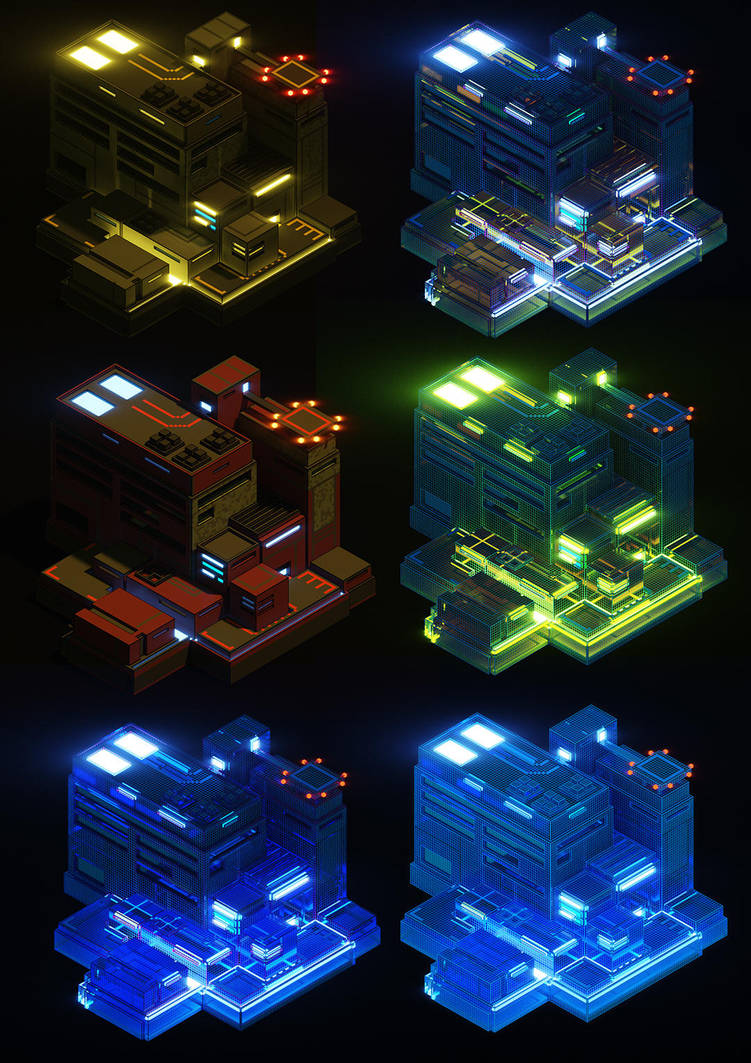 SciFi Buildung and Matrix by Kamikaye