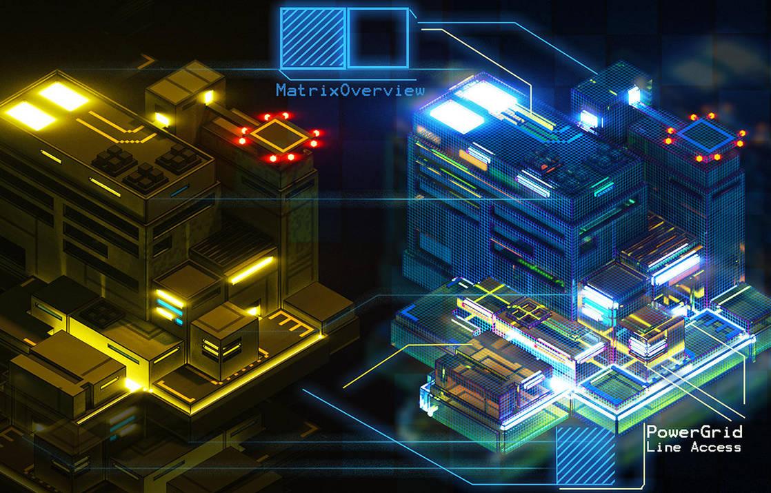 Matrixview Mock Interface by Kamikaye