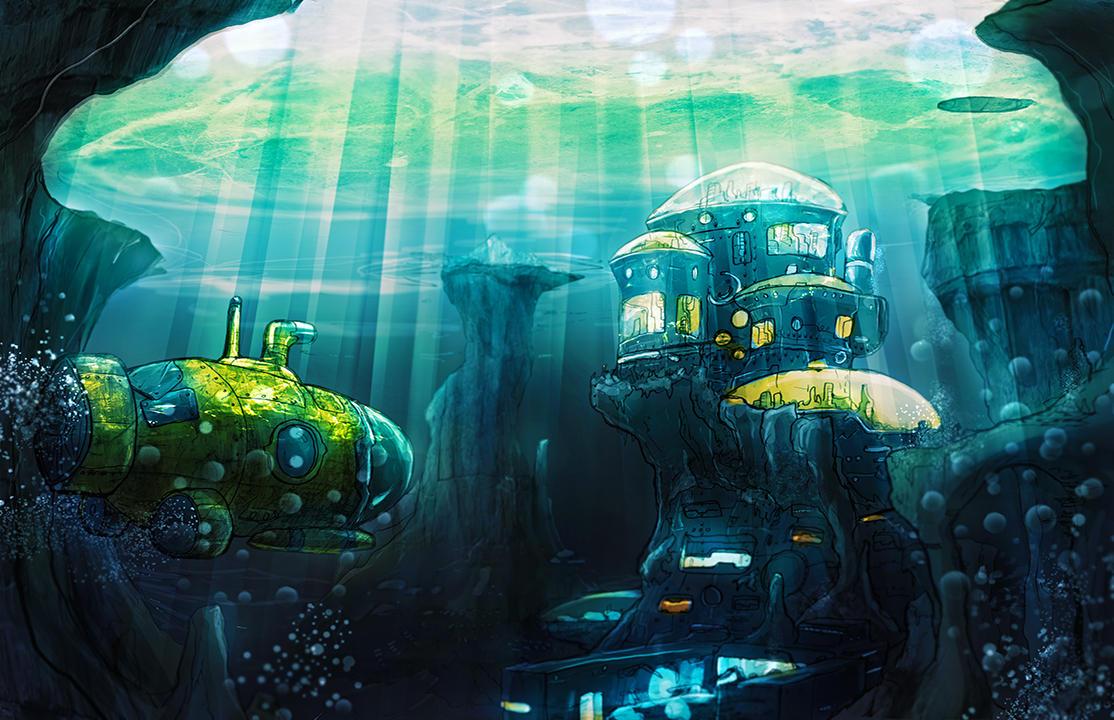 Underwater City by Kamikaye