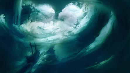 stormy seas by Kamikaye