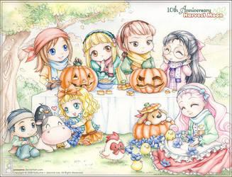 Happy Halloween Harvest Moon by junosama
