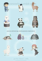 Polar Bear Cafe Print by junosama