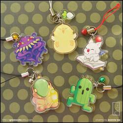 Final Fantasy Charms by junosama