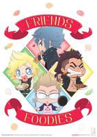 Final Fantasy XV: Friends x Foodies by junosama