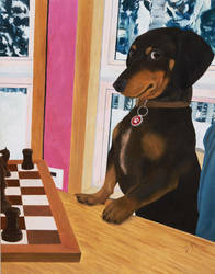 Do you wanna play - Oil Painting by FerrerasBS