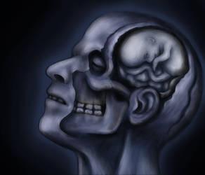 Self portrait as a Blue Head by scatterherz