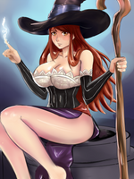 Dragon's Crown Sorceress by angelox27