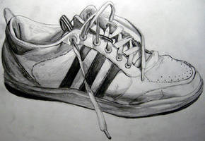Drawing of my shoe.. by IMDWDW