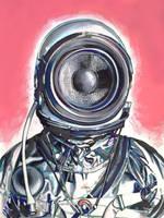 Retro Future Astronaut by IMDWDW