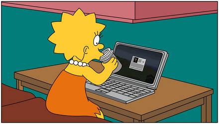 Lisa playing Minecraft by Gazmanafc