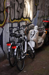 Parked Bicycles by tyhopho