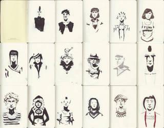 Sketchbook Faces by ElDangerrible