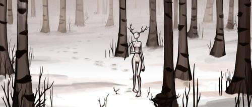 The Deer Princess by ElDangerrible