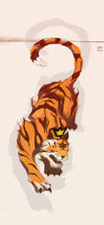 Okt2016 Tiger by ElDangerrible