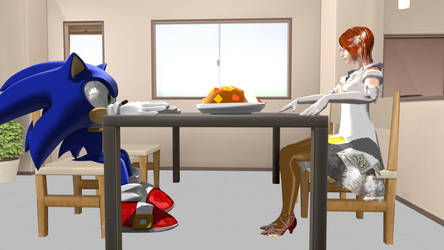 Sonic and Elise on a Date by ChrisWil96