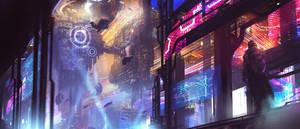 Cyberpunk city by lovetina0726